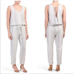 Anthropologie Cloth & Stone Jumpsuit Striped Linen